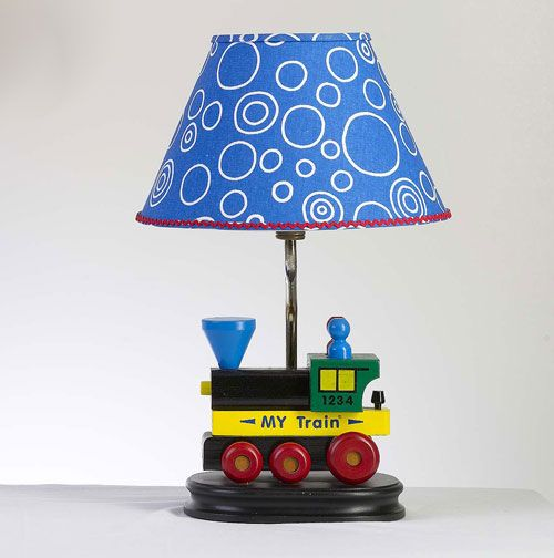 Wooden Train Lamp from PoshTots   Nursery   Pinterest   Wooden train