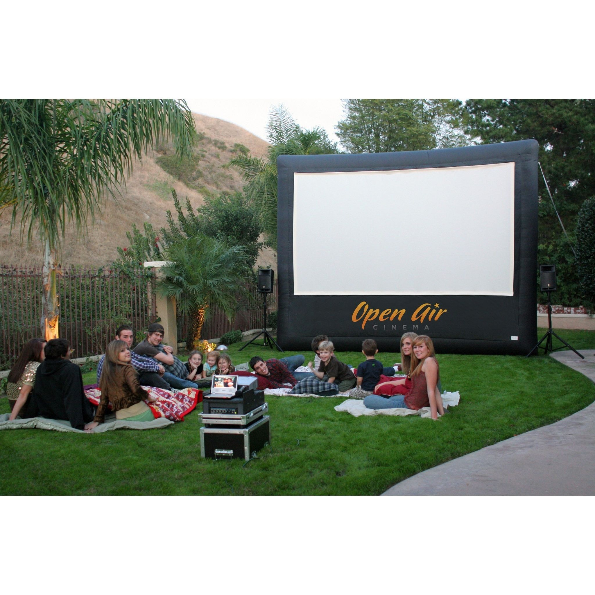 Open Air Cinema 12u0027 Pro Cinebox Outdoor Movie Theater System CBP 12