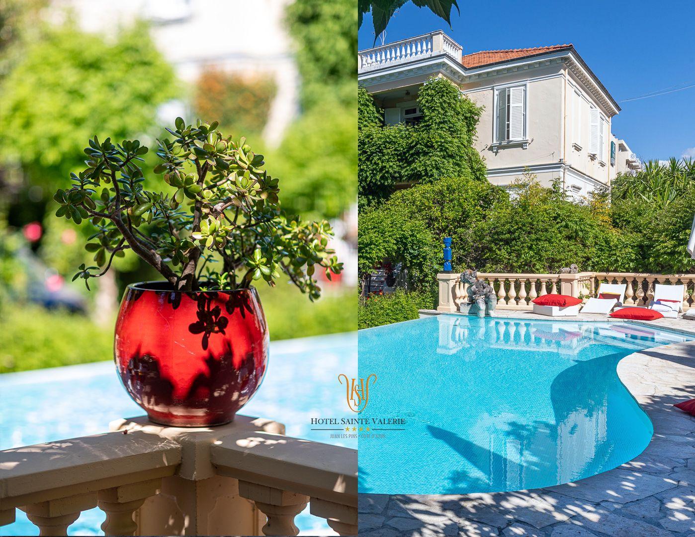 Late summer dream in Juan les Pins …  Les derniers jours de la saison 2019 restent merveilleux : profitez-en vite jusqu'au 12 octobre ! Tel. (33) 04 93 610 715  #HotelSainteValerie #BePrivileged #Luxury #Intimate #Confidential #Chill #Guest #LateSummer #Charm #HotelPool #EteIndien #IndianSummer #Garden #Pool #Provencal #Beautiful #CotedAzurFrance #Antibes #CapdAntibes
