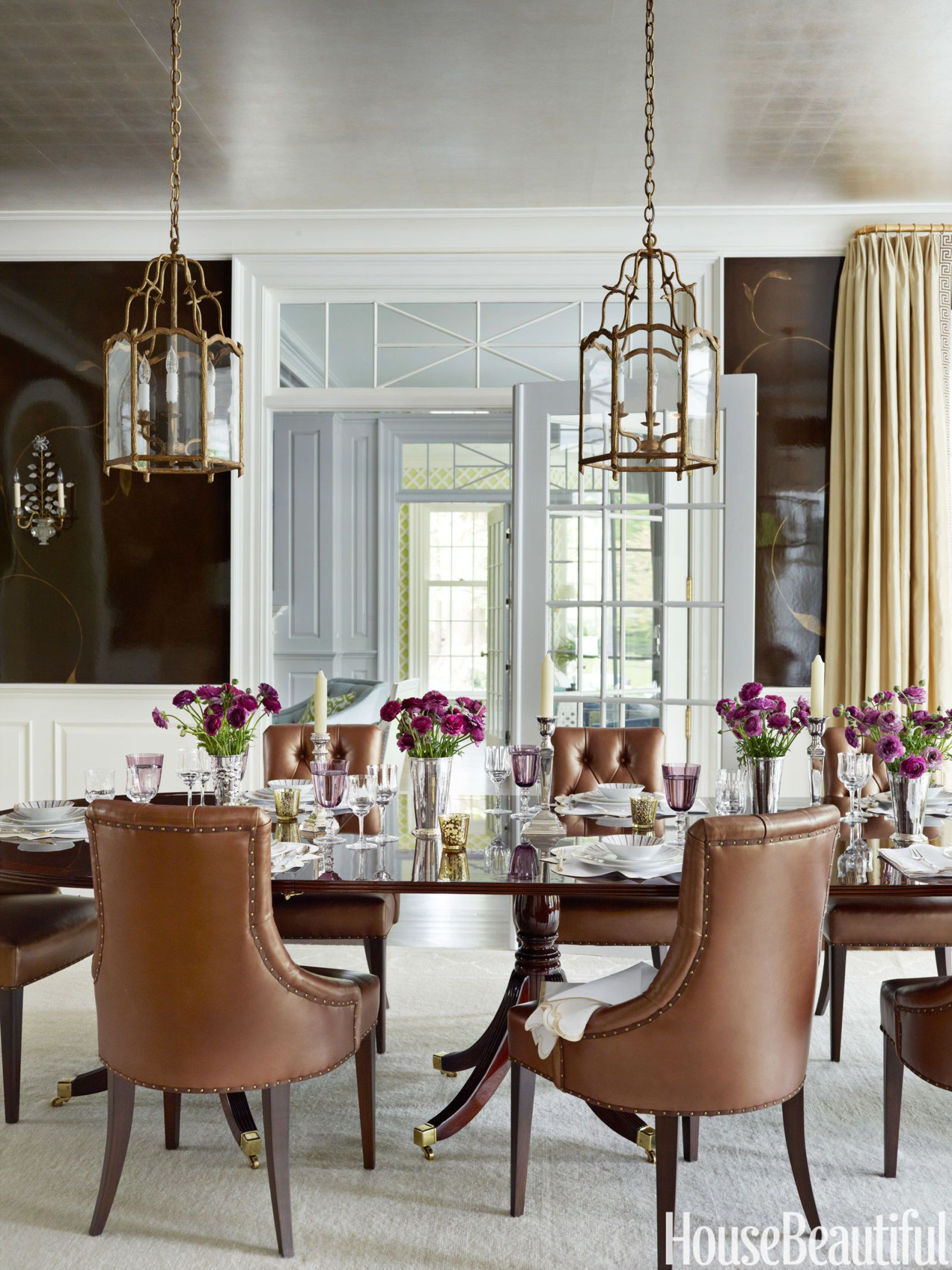 Inside a happy serene house in cool blues greens and grays flow craftsman dining room dzzzfo