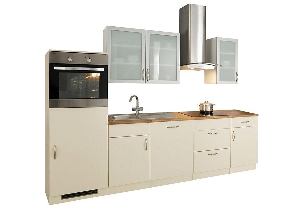 Küchenzeile mit Elektrogeräten »Peru«, Breite 280 cm Jetzt - küchenzeile 160 cm
