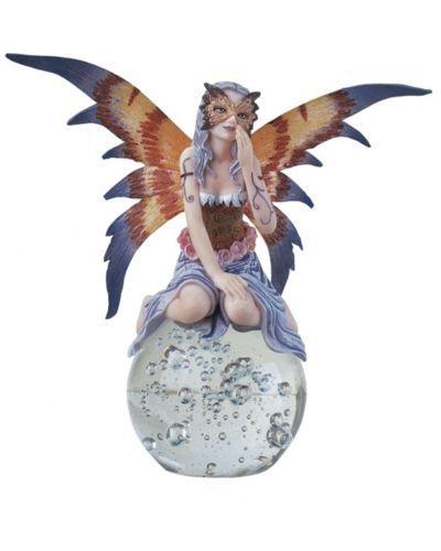 6-5-Inch-Masked-Fairy-on-Crystal-Ball-Statue-Figurine-Figure-Fantasy-Magic