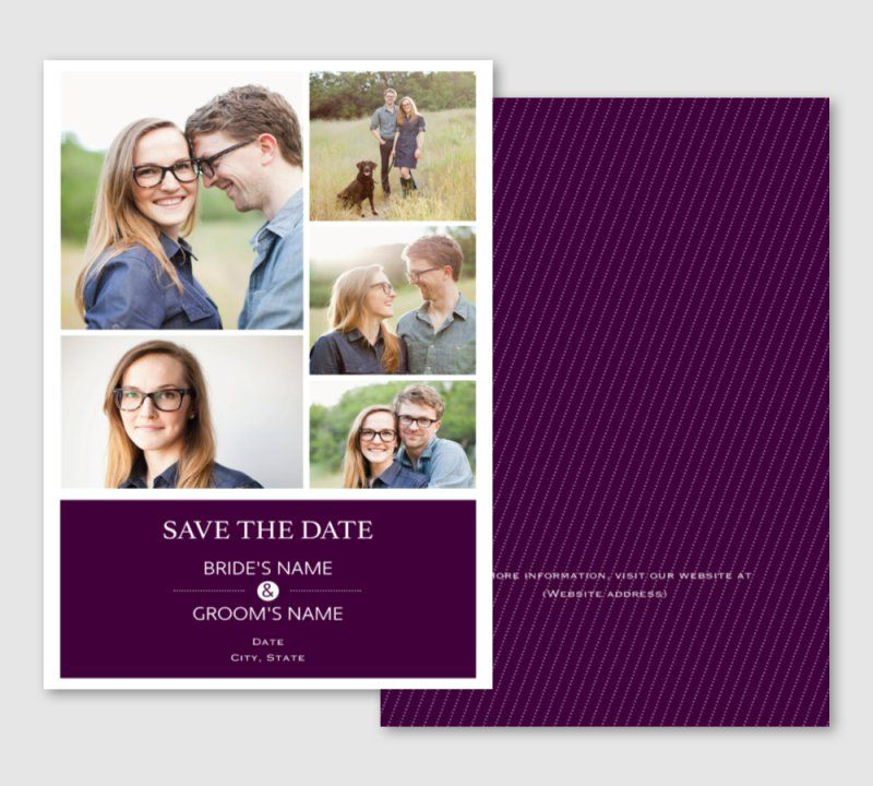 Save The Date Invitations Announcements Templates