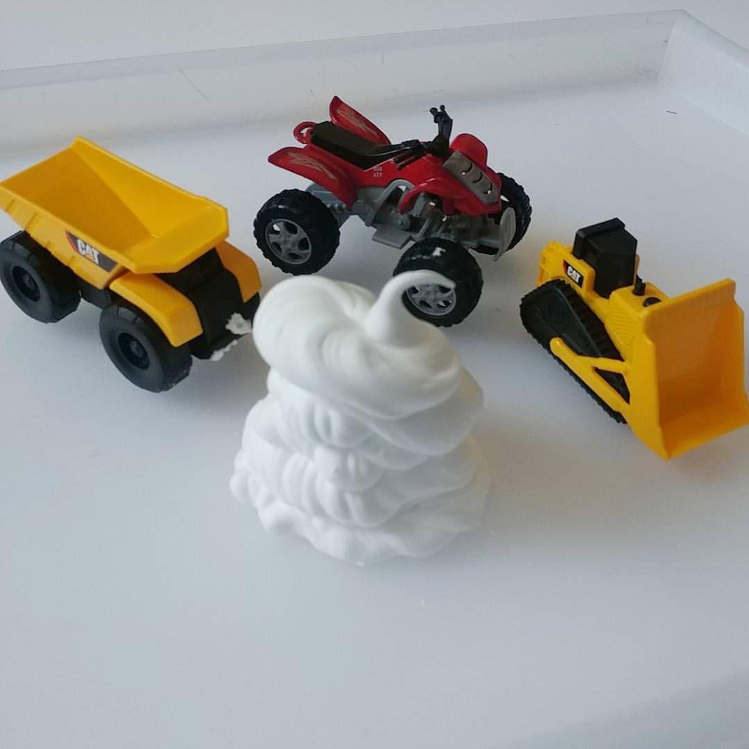 Toys for car journeys  shaving cream trucks  thislittlehomeofmineblog  kids activities