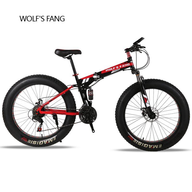 5b89c5b4e99 wolf s fang Folding Mountain Bike 21 24 speed 26X4.0