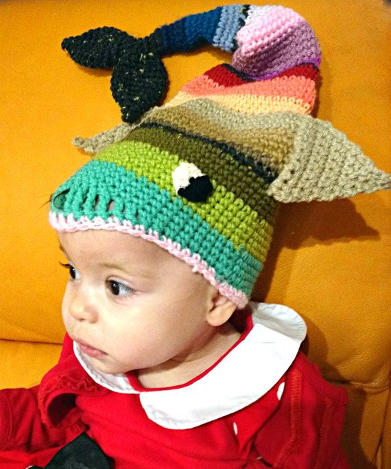 2f3c78f7cf9 Crochet fish hat beanie newborn headdress fishing outfit kids toque funny  beanie cosplay hat woolen hat photo prop baby shower MADE TO ORDER