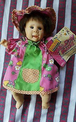 """Gigo happy kids 8.5"""" palm pals bean bag dolls series 2 with original tag"""