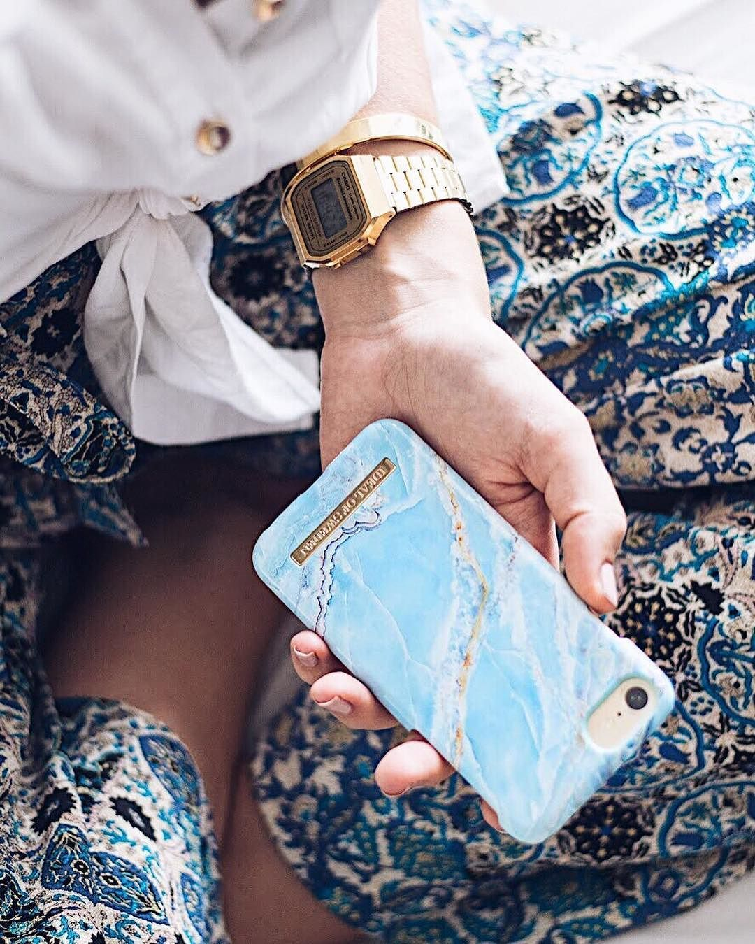 Island Paradise Marble by lovely  betweenricefields - Fashion case phone cases  iphone inspiration iDeal of Sweden  marble  blue  gold  fashion  inspo ... 3f0dce2a7c83b