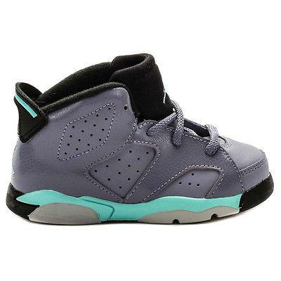 d3e3d100e42 Nike Air Jordan 6 VI Retro Td Toddler 645127-508 Iron Purple Shoes Baby  Size 3