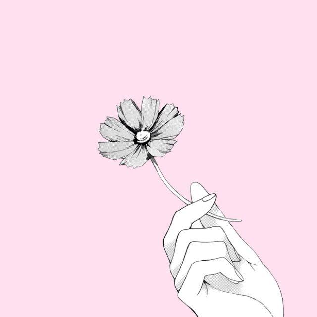 Первым днем, картинки аниме цветы для срисовки карандашом