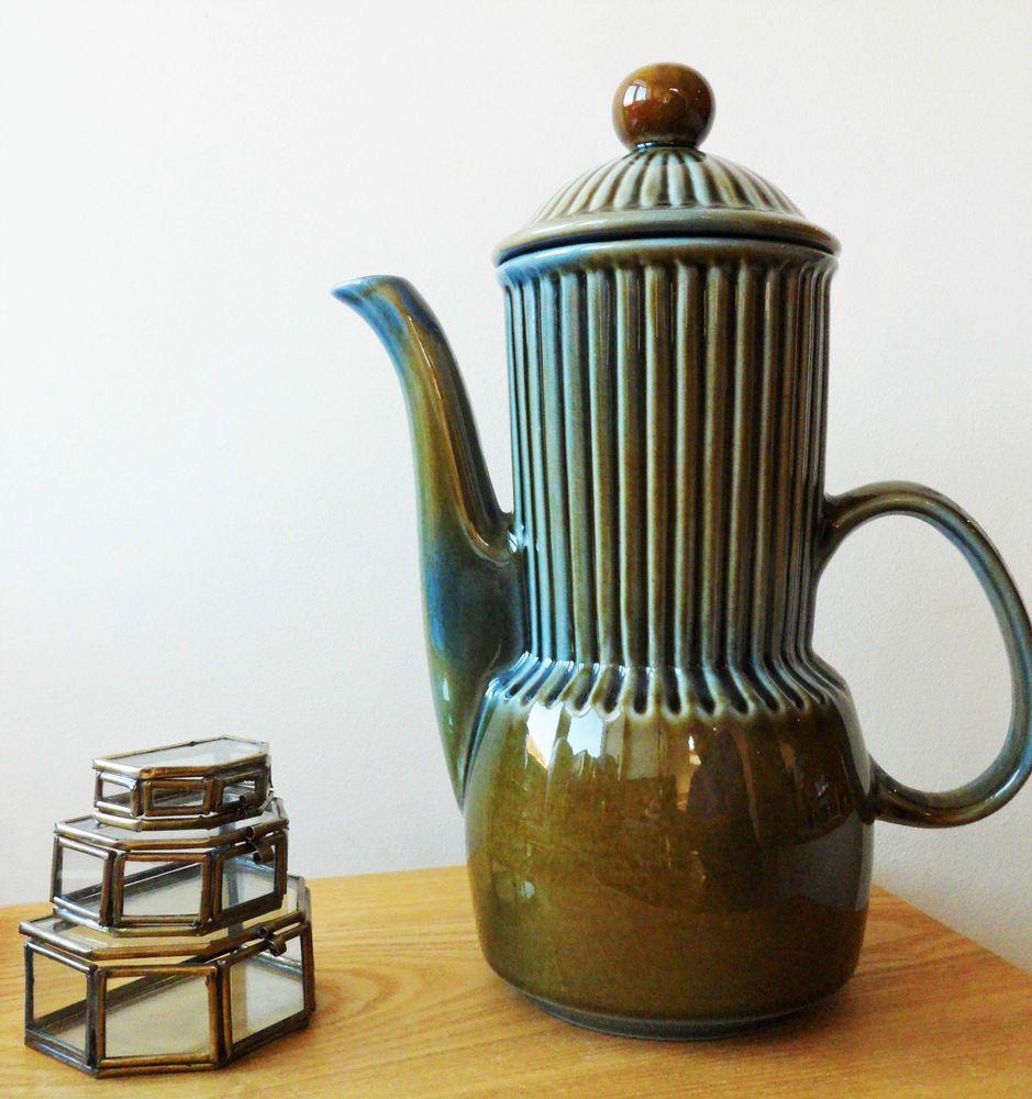 Wade Irish Porcelain Coffee Pot Vintage Shamrock Range Retro Tableware Vintage Coffee Pot Christmas Tableware Irish Pottery