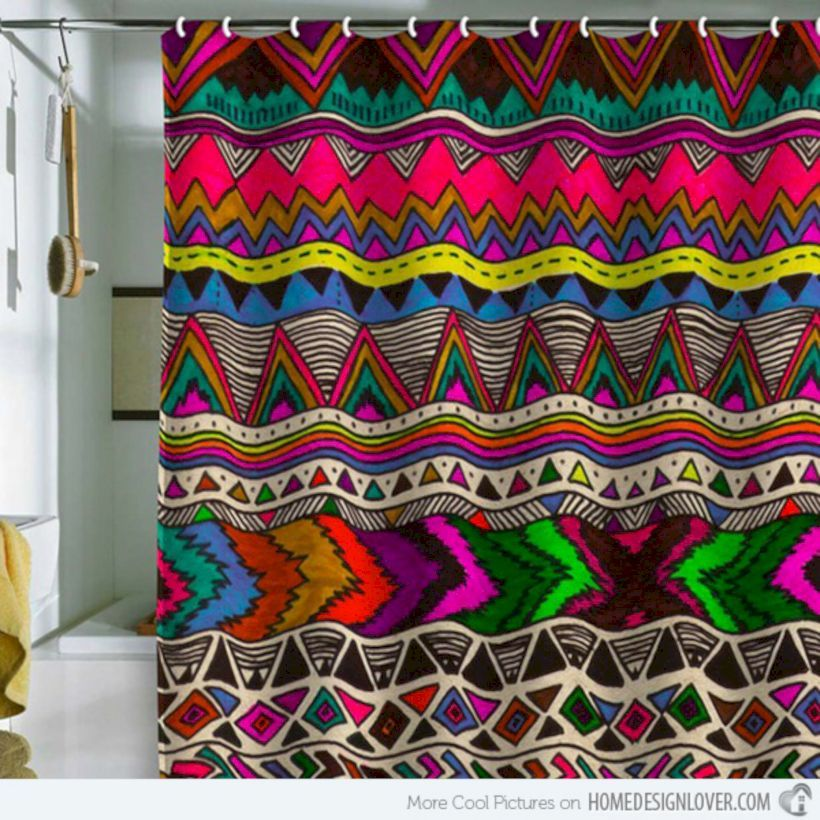66 Bright And Colorful Shower Curtain Designs Ideas