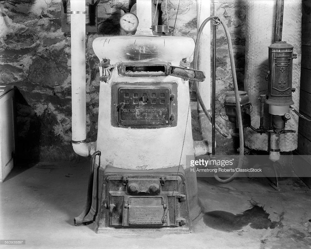 Stock Photo : 1920s 1930s COAL BURNING...