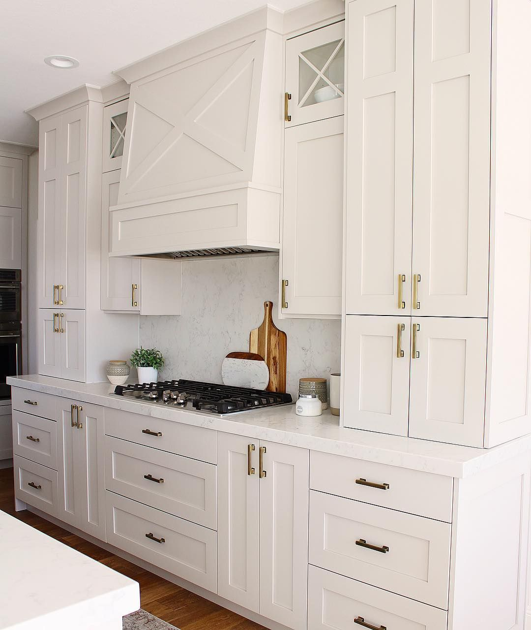The Kitchen In The Alloraproject Is Another Kitchen Where I Used A Warm Neutral Instead Of White Greige Kitchen Kitchen Inspirations Kitchen Cabinet Colors