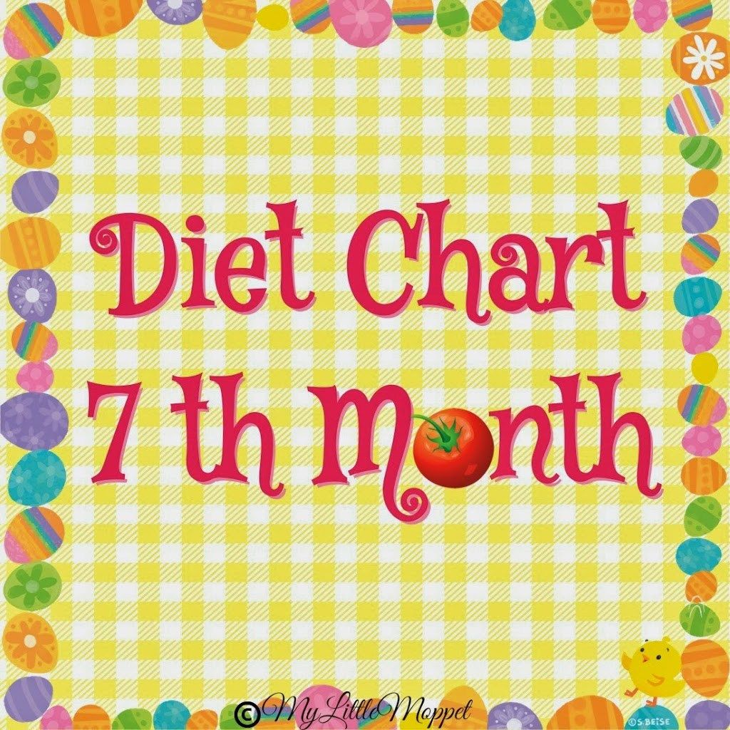 7 Months Food Chart for Babies Baby food chart, 7 month baby