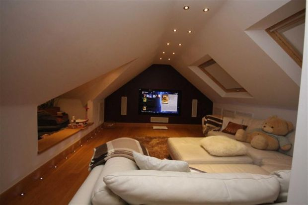 Another cozy attic theater