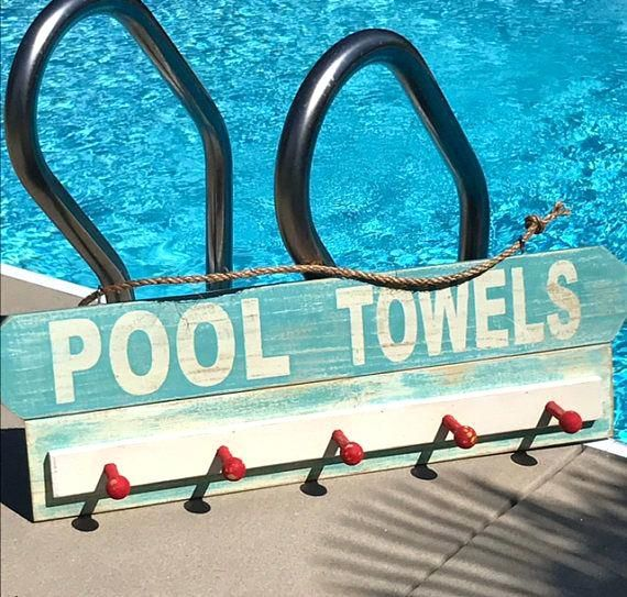Swimming Pool Plaques Signs Wall Decor Backyard