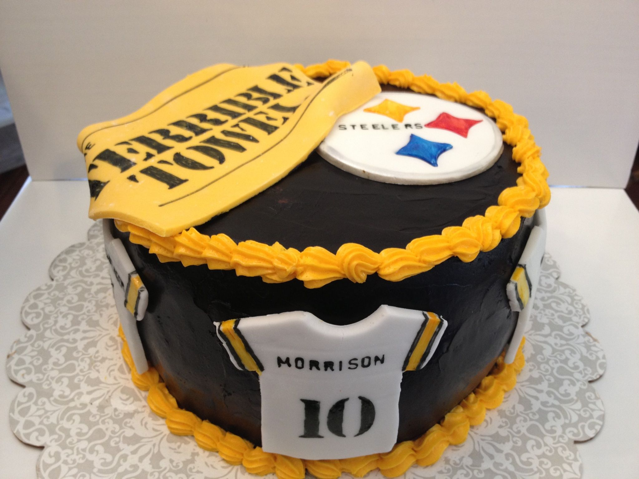 Steeler Cake Cakes I Have Made Pinterest Cake Pittsburgh
