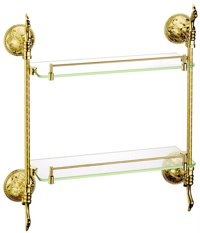 Free shipping brass glass shelf, bathroom shelf,shelves,gold ...