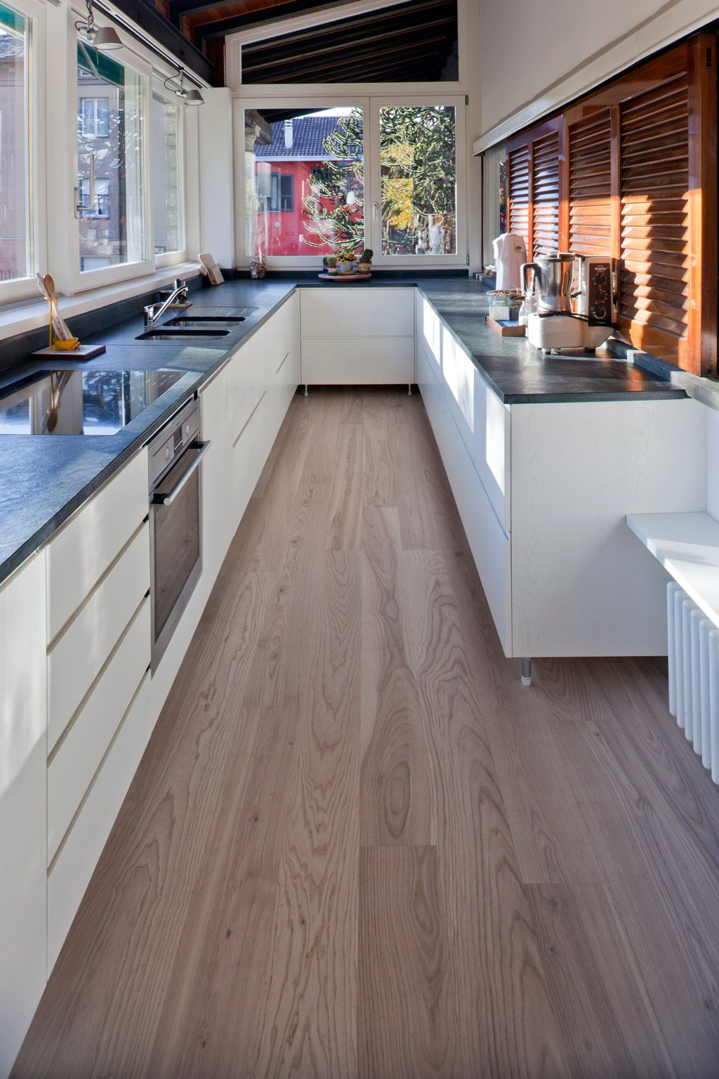 These lovely Hardwood Floors are Engineered Ash that have