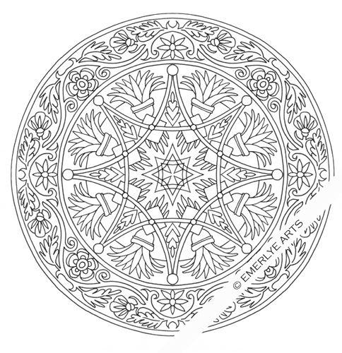 Difficult Level Mandala Coloring Pages | Complex Mandalas to Color ...