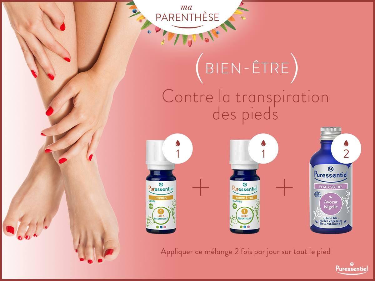 huile essentielle contre la transpiration des pieds