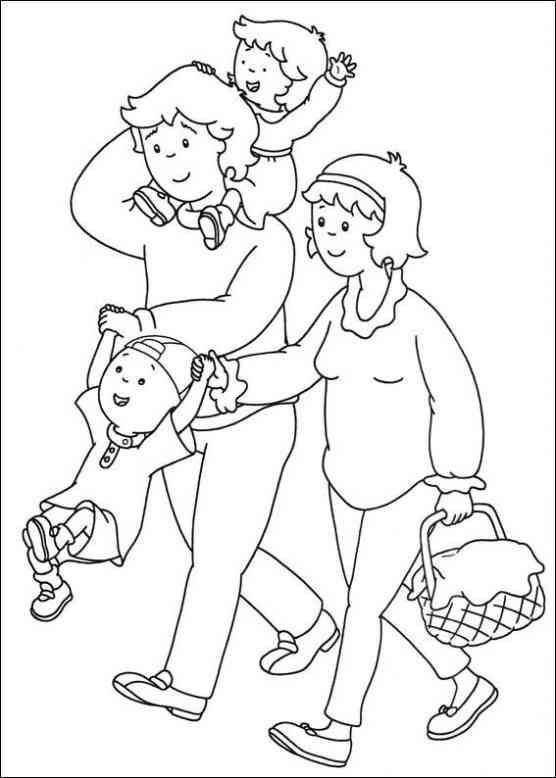 Caillou 8 Ausmalbilder Family Coloring Pages Family Coloring Coloring Books
