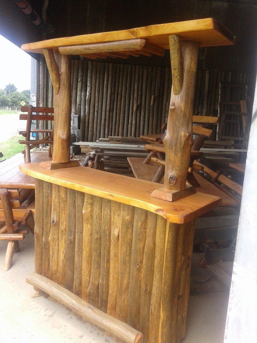 Muebles rusticos de madera buscar con google caba a for Bar madera esquinero