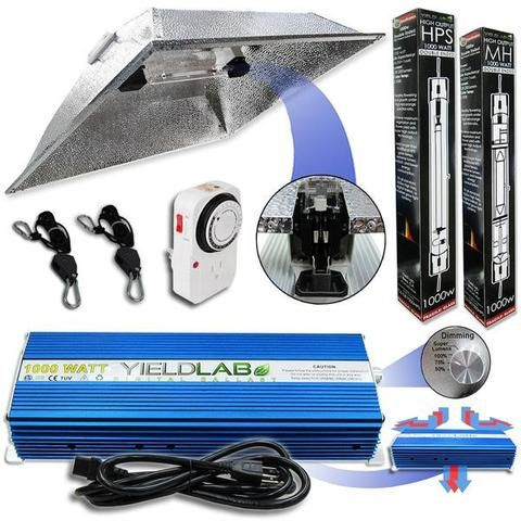 Yield Lab Pro Series 1000 Watt Double Ended Xxl Hood Kit Indoor Grow Lights Grow Lights Grow Light Bulbs