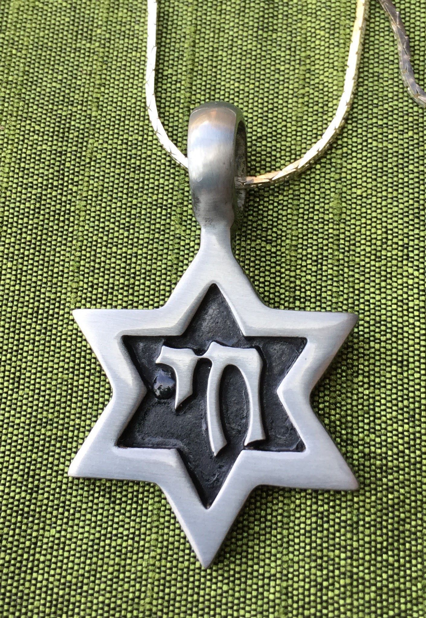 18 20 jewish star with chai symbol pendant on a silver chain 18 18 20 jewish star with chai symbol pendant on a silver chain biocorpaavc Gallery