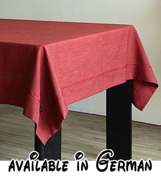 WFLJL Tischdecke Rechteck Esstisch Baumwolle Und Leinen Farbe Wohnzimmer  Couchtisch Restaurant Rot 140 * 180cm.