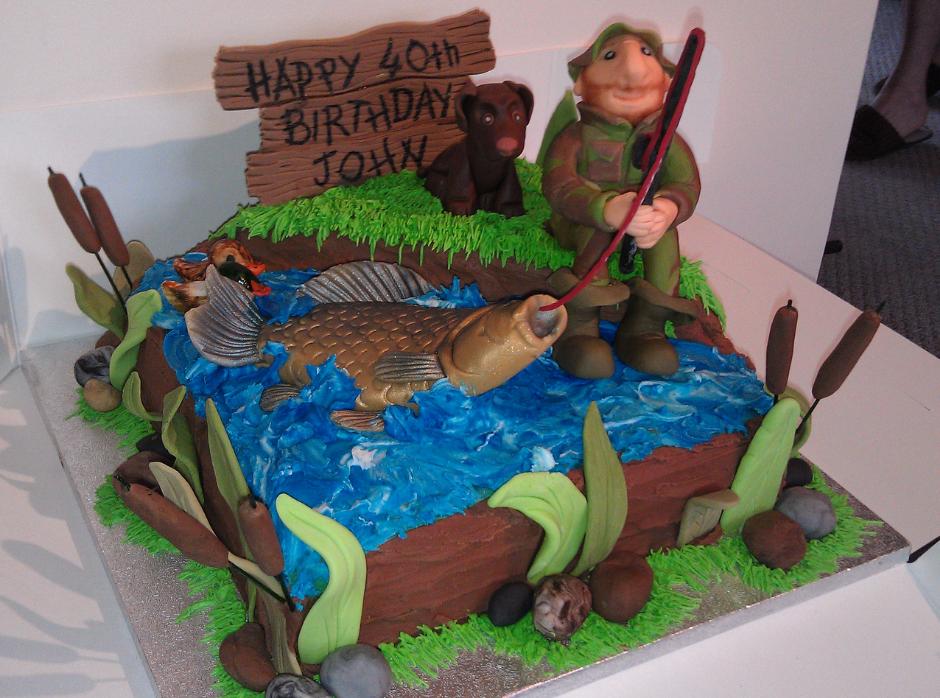 Fishing Fisherman Crucian Carp Cake By Charlotte Morley Sweet