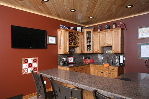 Rongen Feature Home Bar in Game Room - Lake and Home Magazine Dec/Jan 2014