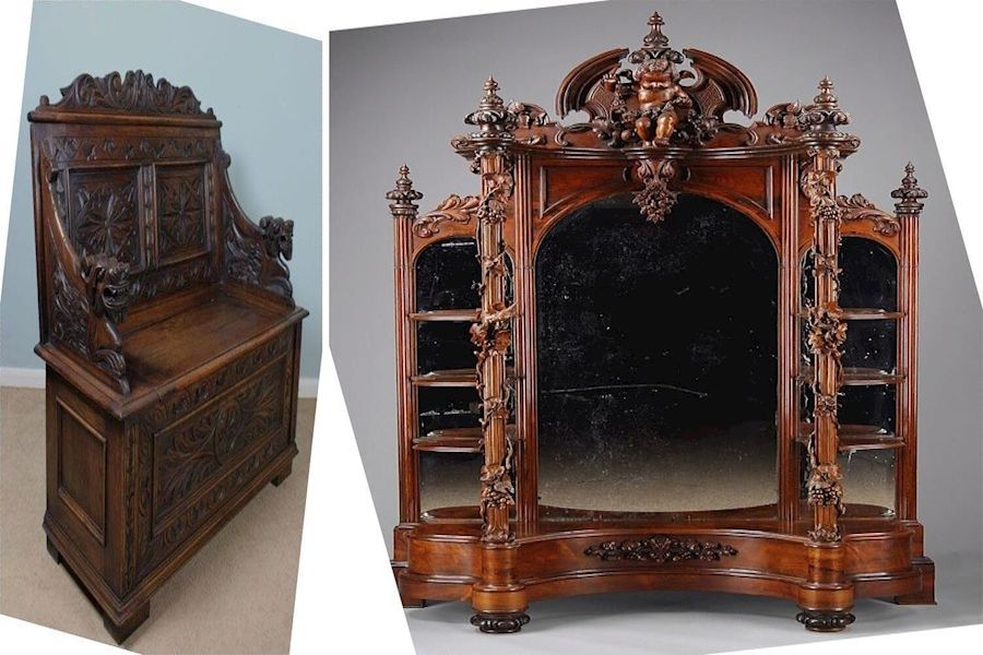 Solid Wood Furniture Bassett Ebay Antique Australia Cupboard