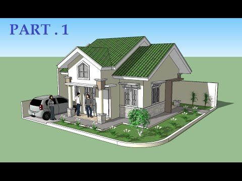 Model A House In Sketchup Pt 2 Sketchup Show 28 Tutorial