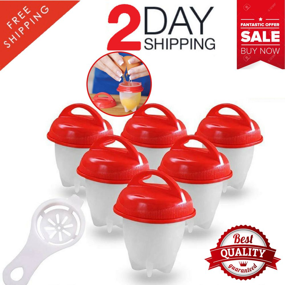 New Eggletts Kitchen Egg Cooker Cup Hard Soft Make Non Stick Silicone Bpa Free Cool Gadgets Kids Party Egg Cookers