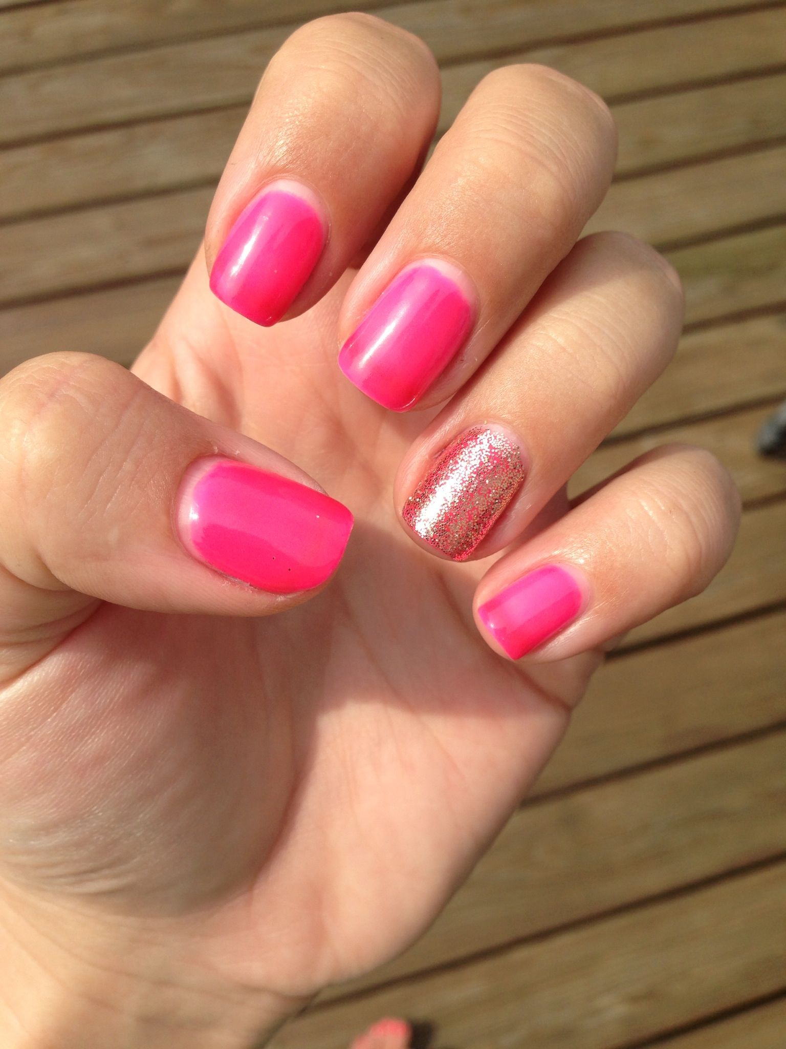 Neon pink Red Carpet Manicure at home no chip | My Nails | Pinterest ...
