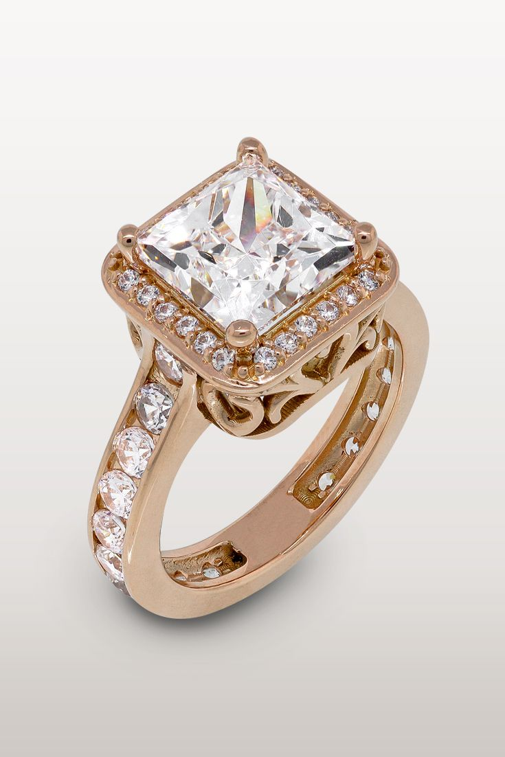 Pretty in pink this custom engagement ring will make you lady swoon