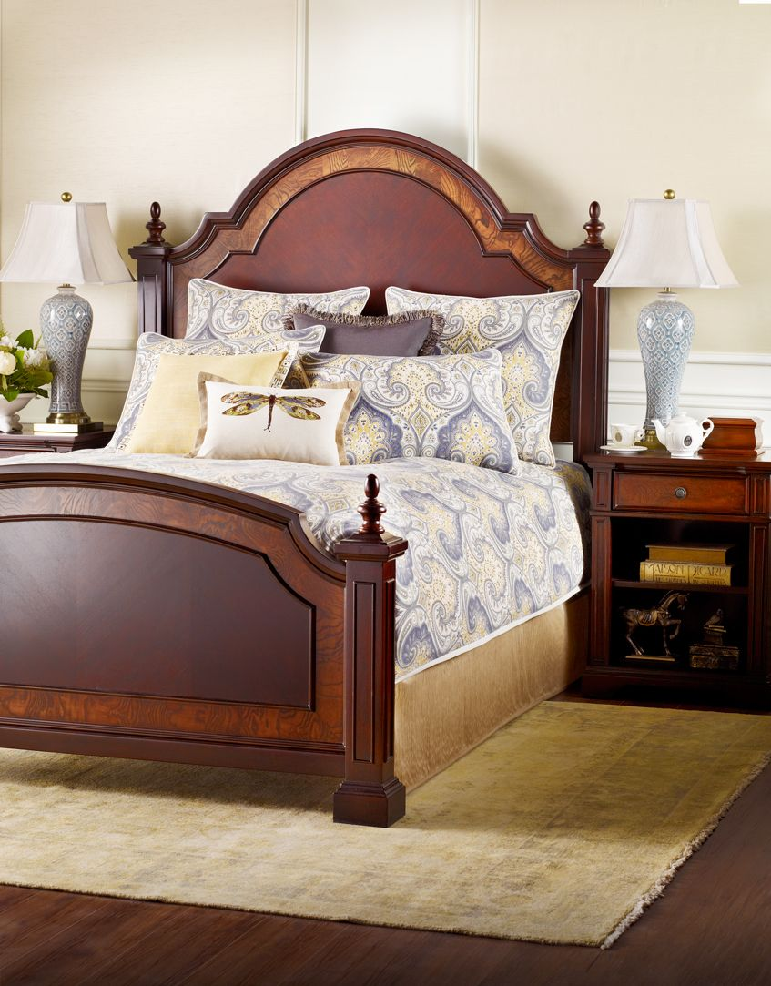 Summerset Bed, Tulleries Linen Bombay Canada Bedroom