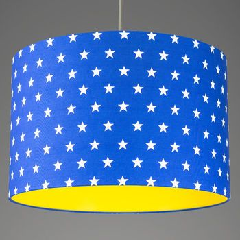 Stars drum shade with choice of coloured lining drums drum shade stars drum shade with choice of coloured lining drums drum shade and kids rooms aloadofball Image collections