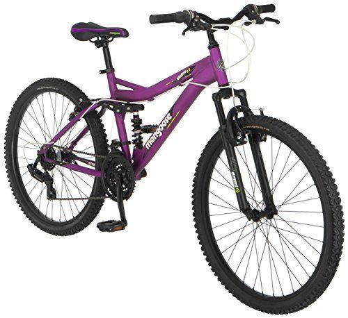 Mongoose Women S Status 2 2 Full Suspension Bicycle 26 Inch