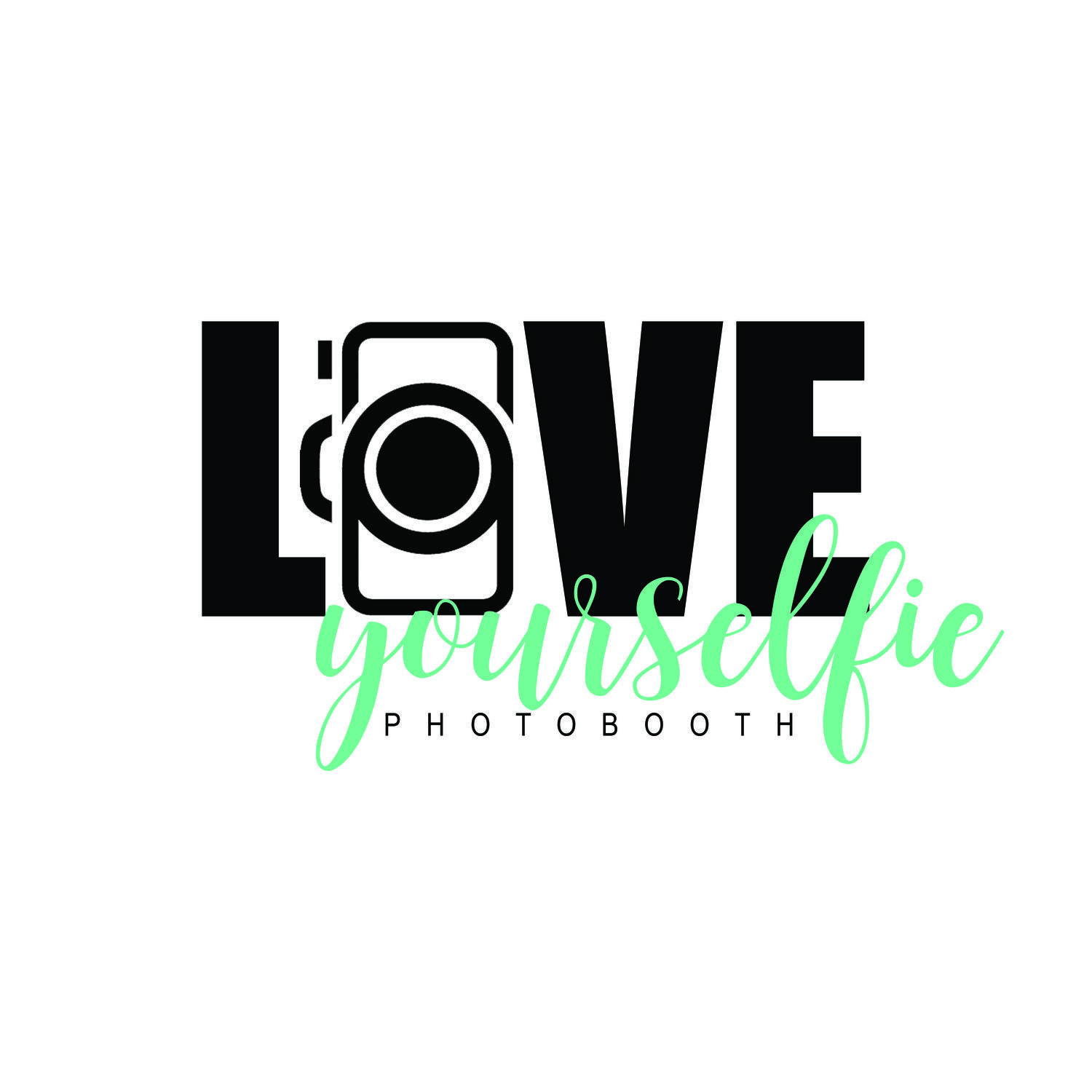 LOVE YOURSELFIE PHOTO BOOTH Logo design, North face logo
