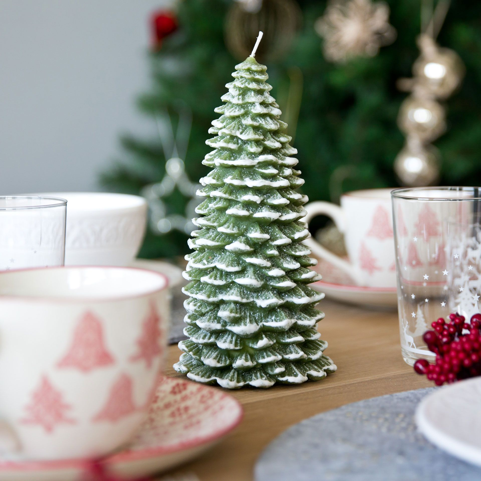 Green Fir Tree Shaped Candle Collection Christmas Zara Home Canada Candle Shapes Christmas Decorations Candle Collection