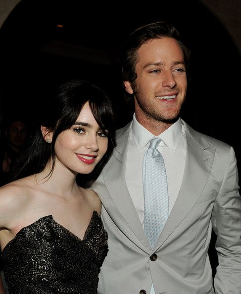 lily collins and armie hammer, their pretty far apart in age but they should date!