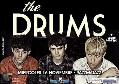 Cartel del concierto de THE DRUMS en Barcelona el 16/11/2011
