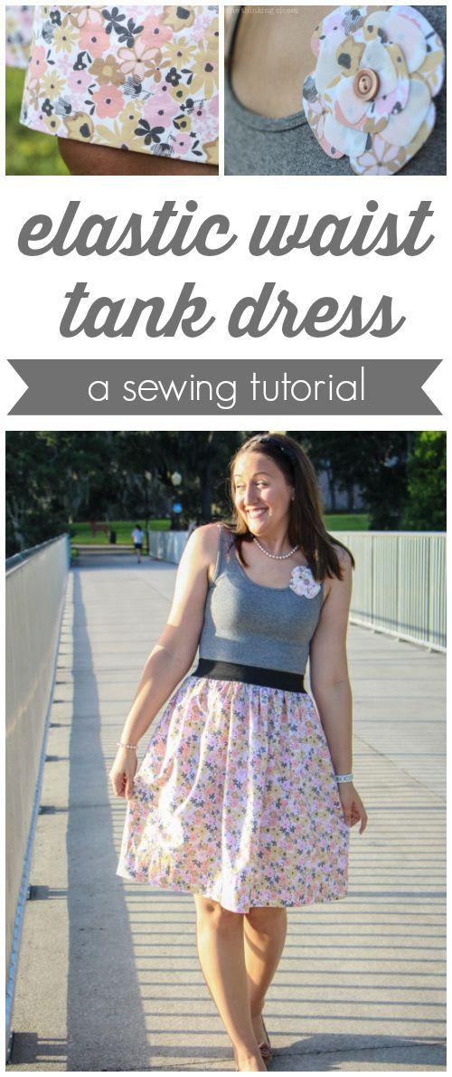 Elastic Waist Tank Dress Tutorial | Nähen, Kleidung und Nähprojekte