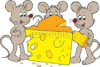 Vector: Mice and cheese