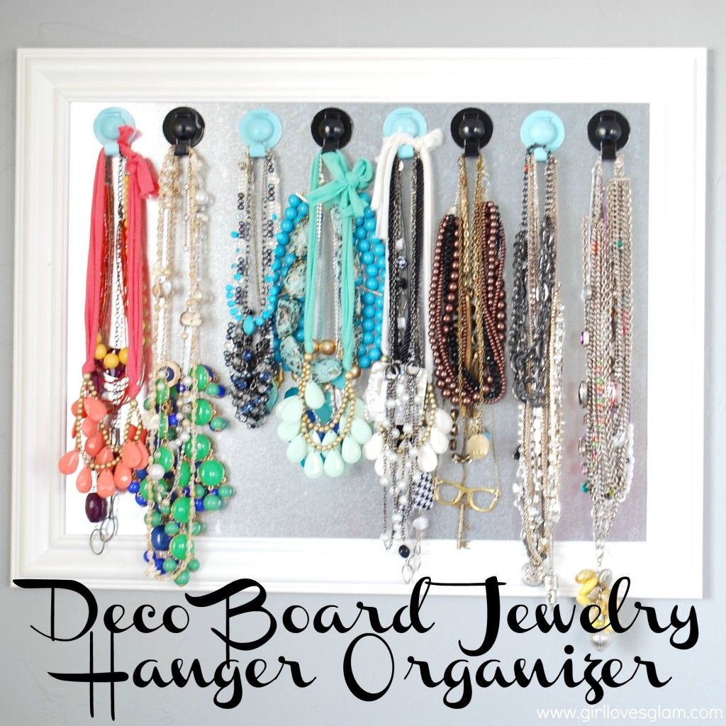 Deco Board Jewelry Hanger Organizer Necklace organization Hanger