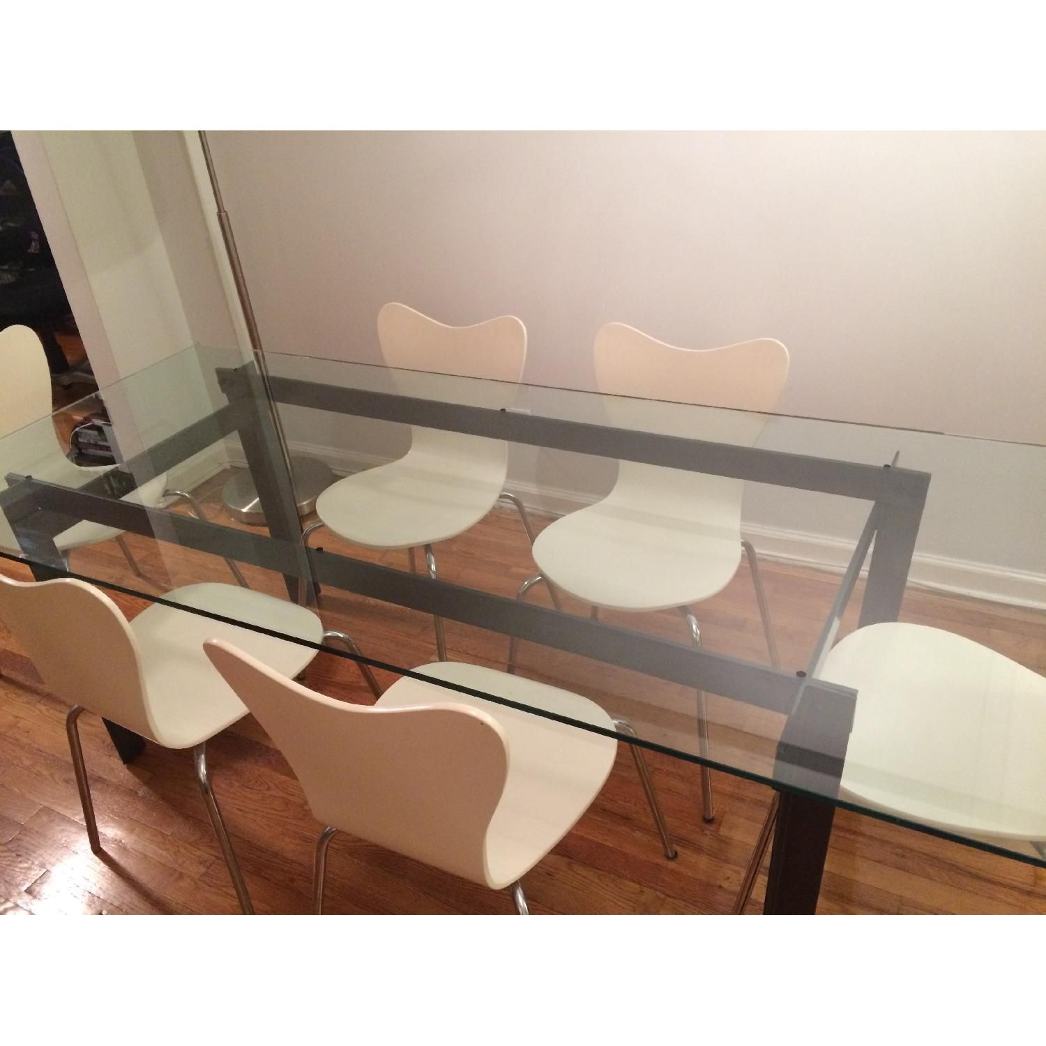 Cb2 Bolt Glass Dining Table Aptdeco Glass Dining Table Dining