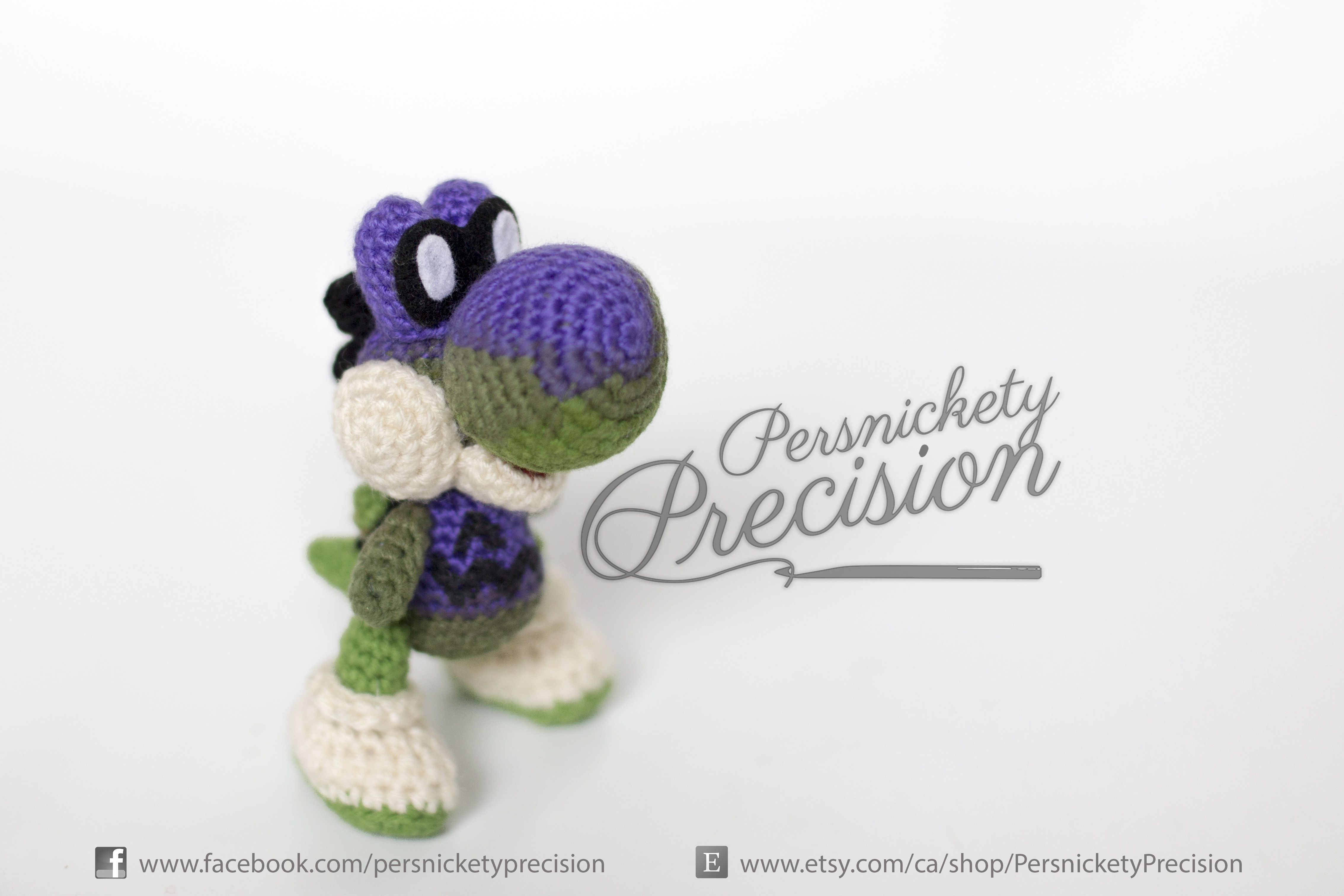 Crochet Spooky Yoshi by Persnickety Precision. In time for Halloween ...